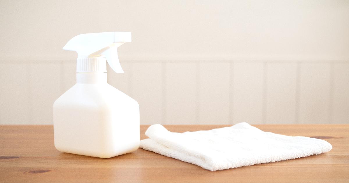 除菌と雑巾